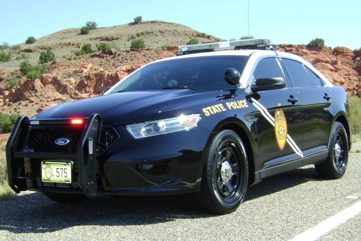The New Mexico State Police's P.I. sedan
