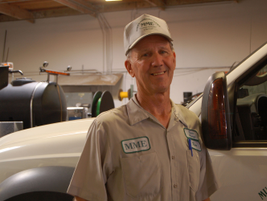 Ron Paproski, service manager and Southern California operations manager, oversees maintenance...