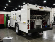 Taylor Pump & Lift service truck that carries fuel, lube, oils, grease, diesel exhaust fluid,...