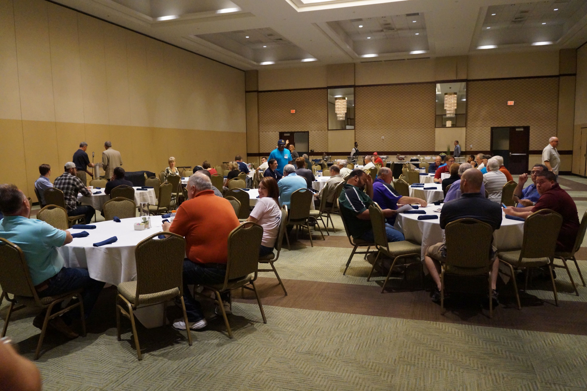 The business luncheon included awards presentations as well as voting for association...