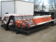 Hauling Barricades This custom hook lift bed from the City of Moline, Ill., was designed by...