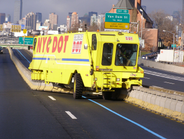 Moving Traffic Medians The City of New York Department of Transportation uses this road zipper,...
