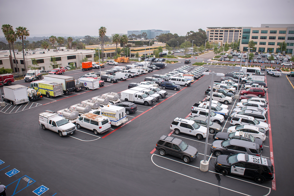 The new facility services 1,900 of the county's vehicles and equipment. It is the biggest of the...