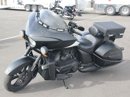 Victory Motorcycles produces a stealth version of its Commander that wasn't tested.