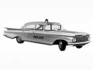 1959 Chevy Biscayne police model  Copyright 2013 General Motors LLC. Used with permission, GM...