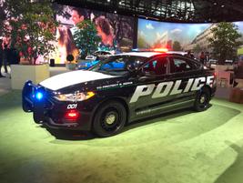 The Police Responder Hybrid Sedan is part of Ford's $4.5 billion global push for electrification.