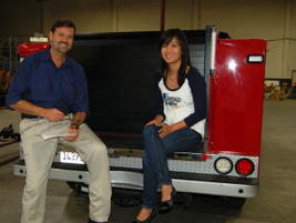 Fleet Supervisor Jeff Hart is pictured with GF Managing Editor Thi Dao during an interview in...