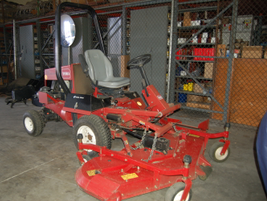 This Toro mower is used by the Sewer Division.
