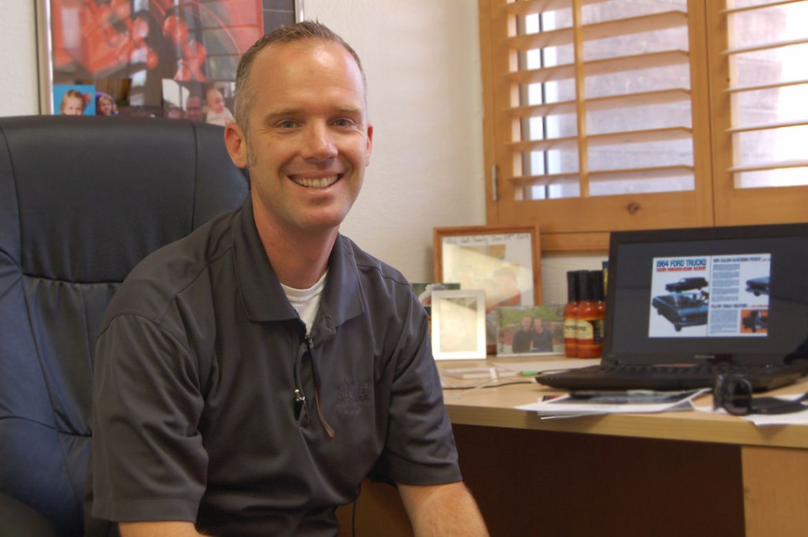 Tray Hall, territory sales manager for Muncipal Maintenance Equipment.