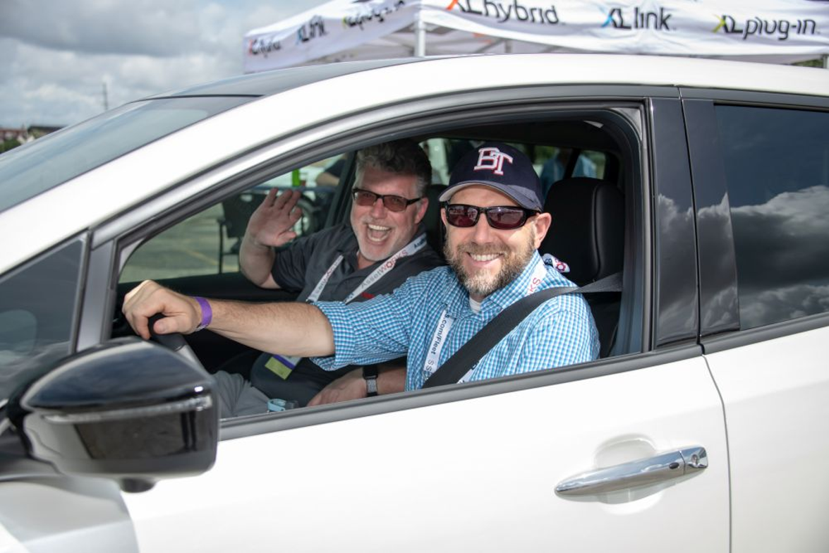 Attendees of the second annual GFX Block Party got to test drive a variety of vehicles.
