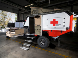For first responders and relief workers on the road, the truck includes a temperature-controlled...