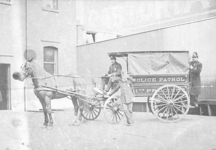 11th Precinct patrol wagon, 1880