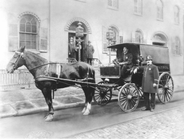 61st Precinct patrol wagon in Brooklyn, 1901