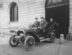 The NYPD used Ford Model Ts for its police cars in the 1910s. This photo shows a car at...