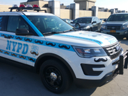 This police car celebrates Movember, which takes place in November and raises awareness for...