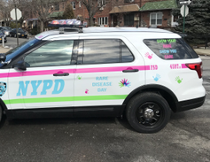 This police car brings awareness toRare Disease Day on Feb. 28.