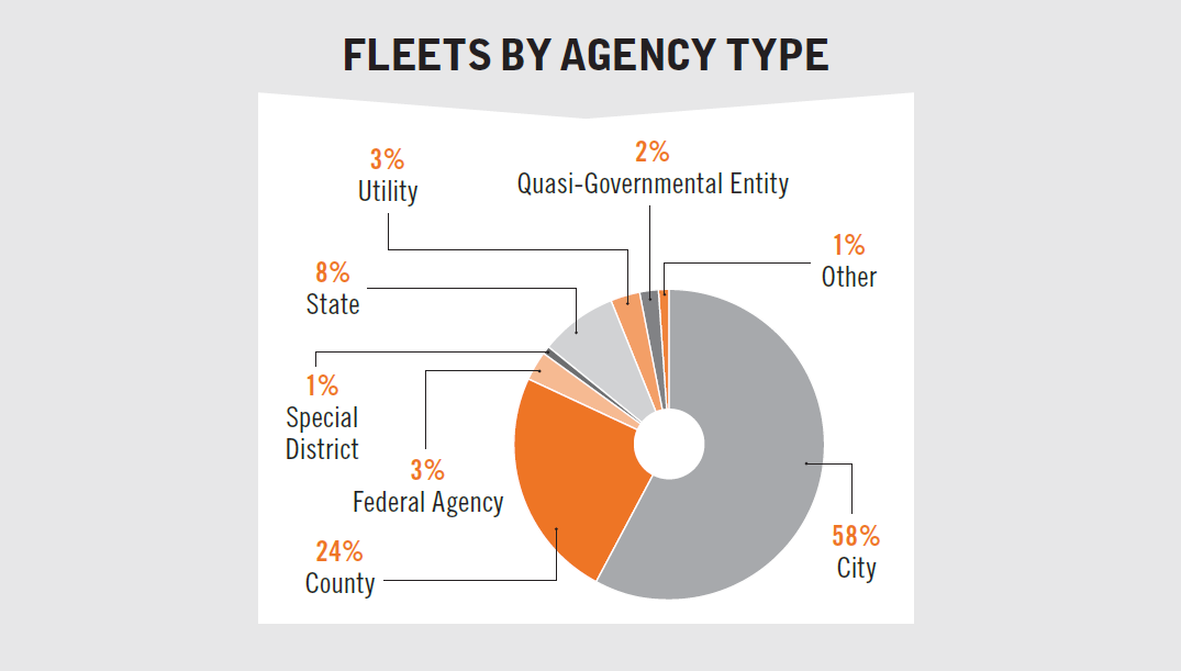 This chart shows the profile of survey respondents and the public entities for which they work.