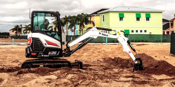 Bobcat's E26 compact excavator features a 24.8-hp diesel engine does not require a diesel...