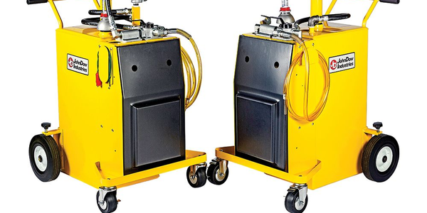 The cart-style caddies are compact and easy to move around the shop.