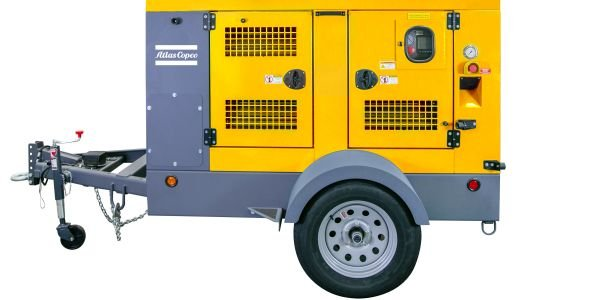 The Atlas Copco high-flow pumps come with a road certified trailer and sound proof enclosure.