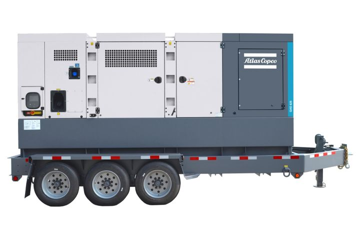 The QAS 625 generator requires less than two hours of service for every 500-hour service interval. - Photo courtesy of Atlas Copco