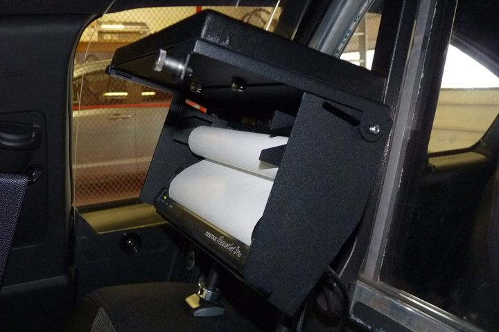 The mobile printer was designed for law enforcement use. - Photo courtesy of Baycom