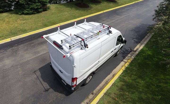 Weather Guard's new All-Purpose Steel Van Rack can be installed in less than an hour. - Photo courtesy of Weather Guard