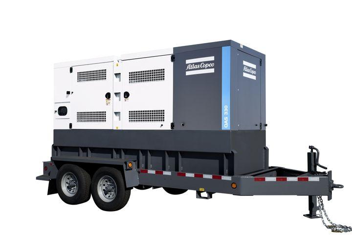 Atlas Copco Power Technique's QAS 250 and QAS 330 generators feature powder-coated steel that is corrosion resistant. - Photo courtesy of Atlas Copco