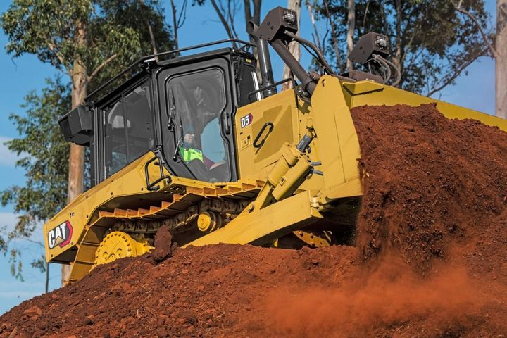 The Cat D5 dozer comes with a fully automatic transmission that delivers 170 hp. - Photo courtesy of Caterpillar