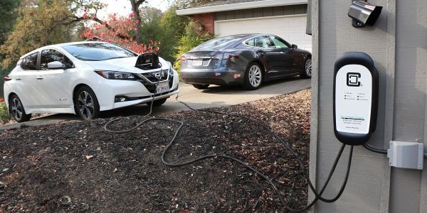 The HCS-D40P is a Level 2 electric vehicle (EV) charging station that can charge two vehicles...