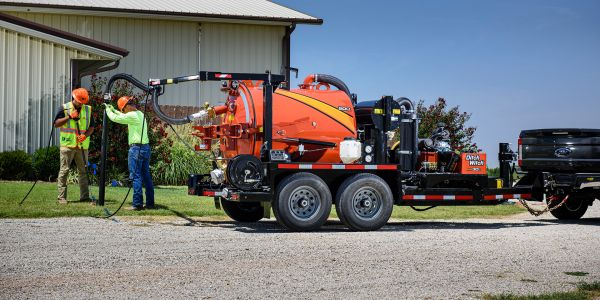 The Ditch Witch HX30G vacuum excavator is powered by a 31-hp Vanguard gas engine.