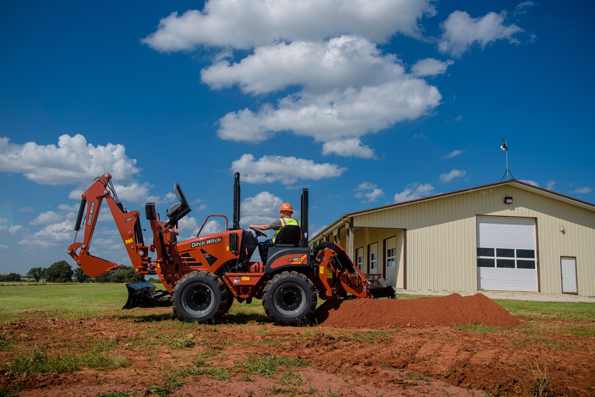 Ditch Witch RT80 Trencher Designed for Urban Utility Jobs