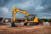 JCB's 150X excavator is equipped with a larger Kawasaki hydraulic pump that can run at lower...