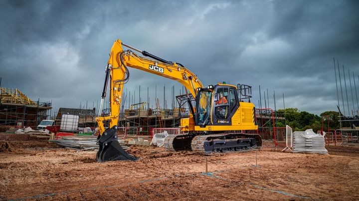 JCB's 150X excavator is equipped with a larger Kawasaki hydraulic pump that can run at lower engine speeds. - Photo courtesy of JCB