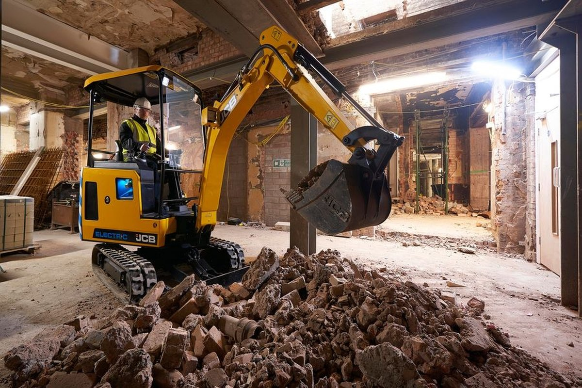 JCB Electric Mini Excavator Ideal for Urban Job Sites