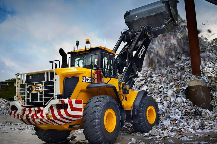 The 457 HT wheel loader has an operating weight of 44,428 lbs. - Photo courtesy of JCB