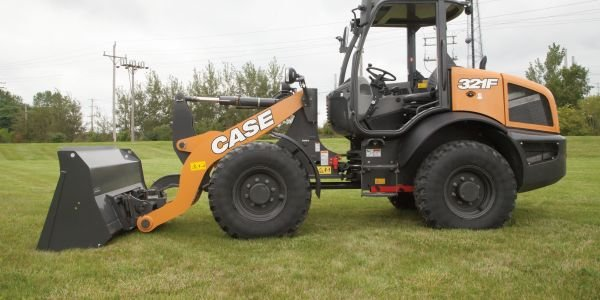 The F Series compact wheel loaders feature Case's maintenance-free Tier 4 Final solution that...