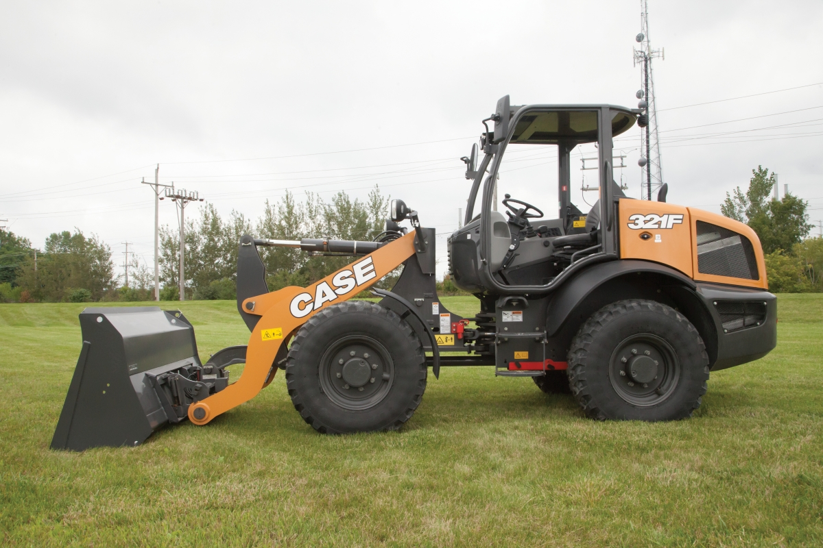 Case F Series Wheel Loaders Available with Open Canopy Option