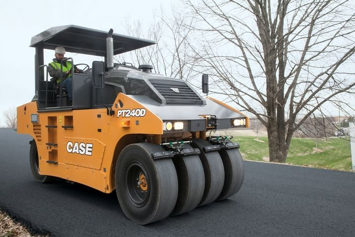 Case's PT240D is built for sub-base and asphalt compaction on large-scale road and highway projects, airport runways, and other large commercial developments. - Photo courtesy of Case