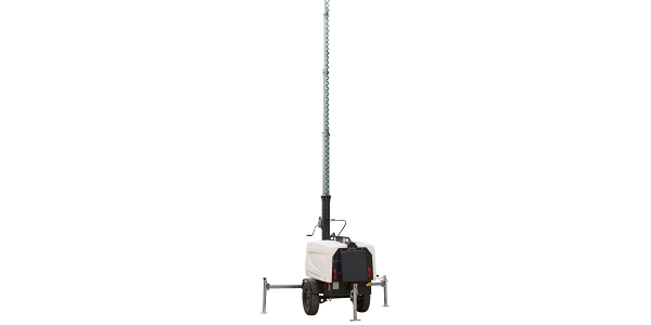 The WCDE-4-30FT-MHL features a three-stage, fold-over light mast.