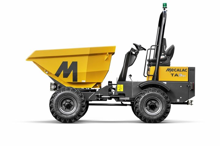 The Mecalac range of Power Swivel site dumpers features payload options from 1 to 10 tons. - Photo courtesy of Mecalac