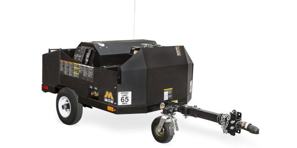 The Mi-T-M Corporation hot water mini trailer utilizes a 12-volt Beckett burner to heat water up...