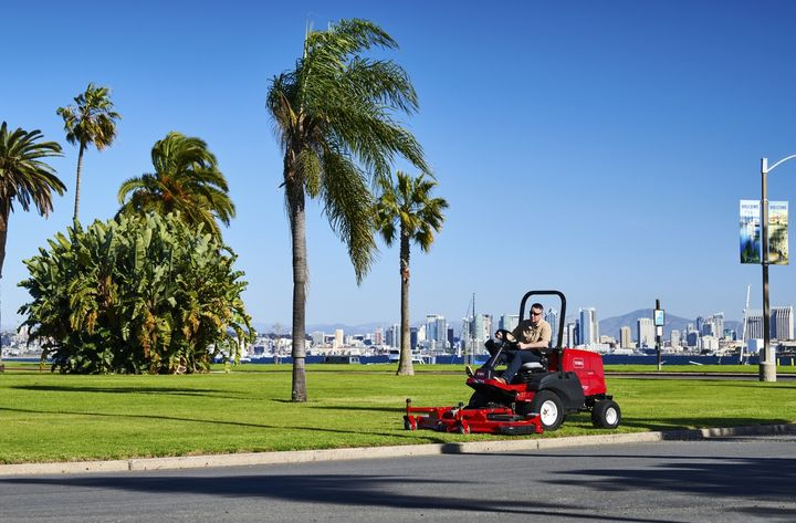 The Groundsmaster 3200/3300 mowers offer improved productivity features, including large 60-inch and 72-inch side-discharge, rear-discharge, and flail cutting decks. - Photo courtesy of Toro