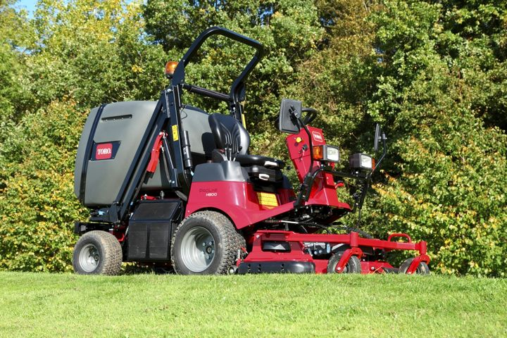 The ToroProLine H800 mower featuresa 24.8-hp Yanmar diesel engine, a 10.8-gallon fuel tank, and top speed of 9.3 mph. - Photo courtesy of Toro