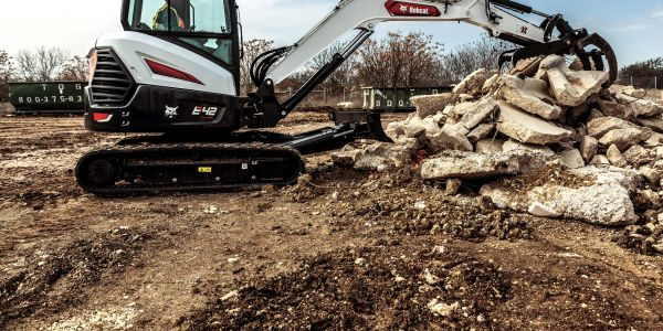 New Bobcat R2-Series E42 and E50 excavators feature improved low-effort joysticks that respond...