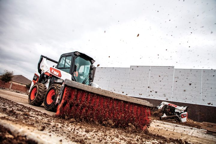 Bobcat's S76 skid-steer loader features a new one-piece cab, sealed and pressurized to repel dust and dirt. - Photo courtesy of Bobcat