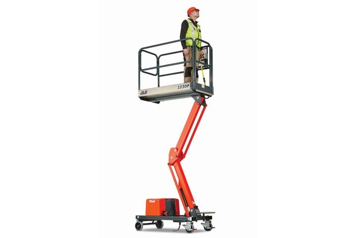 The JLG1030P low-level access line is ideal for use in place of scaffolding, when requiring a work height up to 16 feet. - Photo courtesy of JLG
