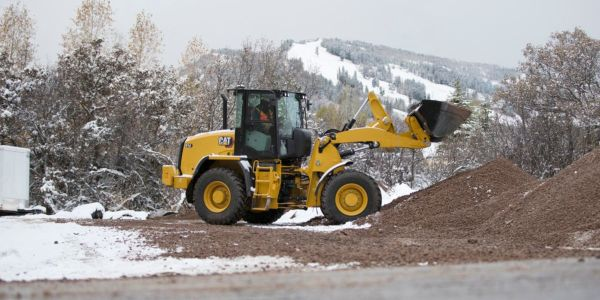 The Cat 914 compact wheel loader features a Cat C3.6 engine delivering 111 hp.