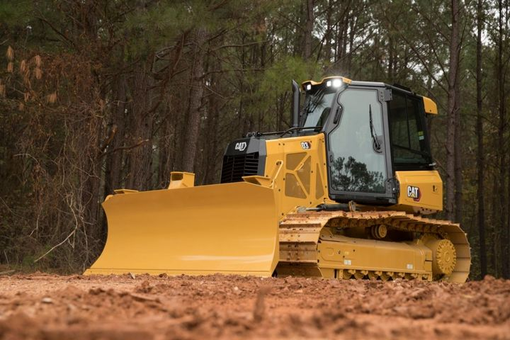 The D3 dozer has an operating weight of 20,321 to21,150 lbs. and delivers 104 hp. - Photo: Caterpillar