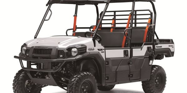 The 2021 Mule Pro-DXT EPS FE features Kawasaki's Trans Cab system that quickly transforms the...